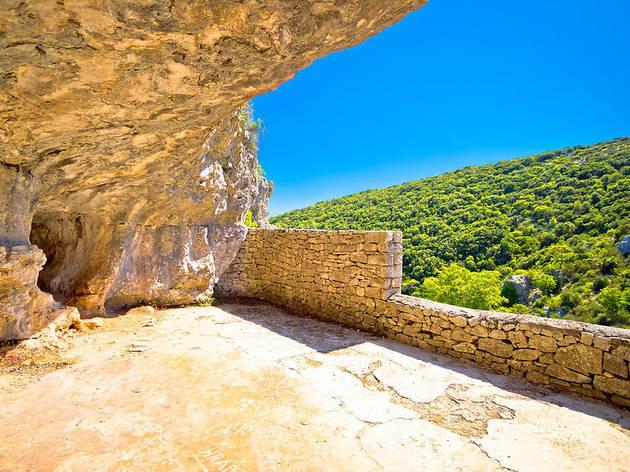Tito's cave on Vis island