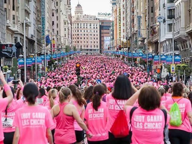 Carrera de la Mujer por las calles de Madrid