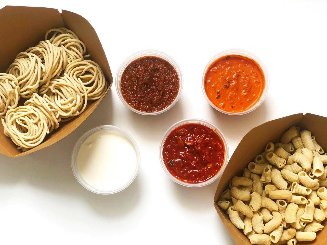 pasta peddler, pasta, ryan poli, noodles, sauce, italian, meal kit