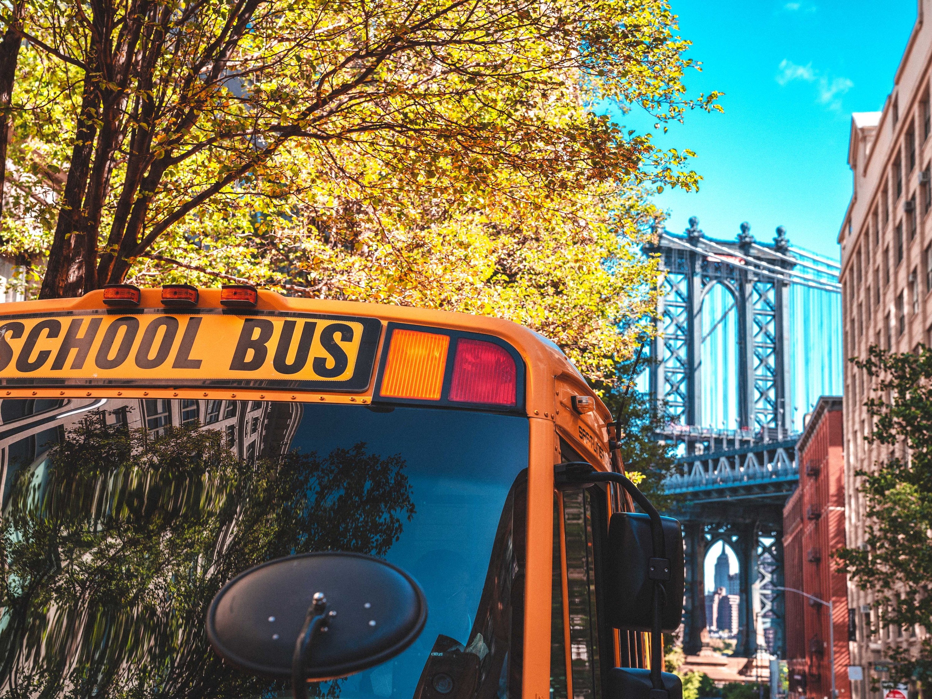 School bus in brooklyn