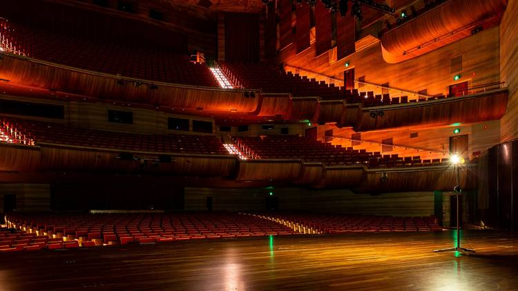 Ghost lights on the Arts Centre Melbourne stages