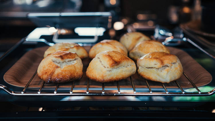 Scones on a tray