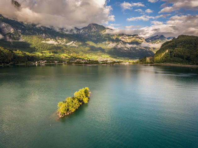 Schnittlauchinsel, Eastern Switzerland. for Swiss Islands Switzerland Tourism campaign. Do not reuse.