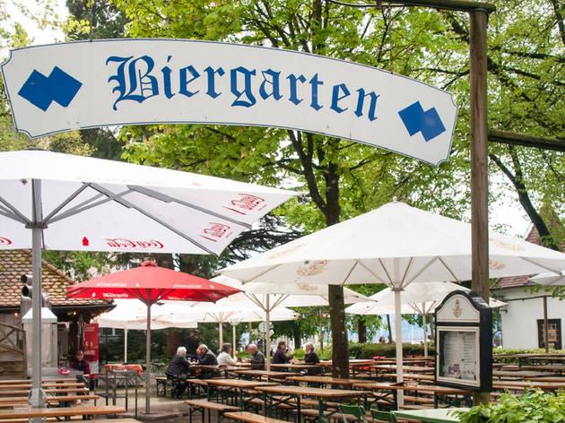 A biergarten in Lindau