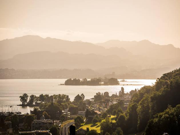 Ufenau Island, Zurich Region. for Swiss Islands Switzerland Tourism campaign. Do not reuse.