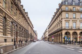 Rue de Rivoli in Paris