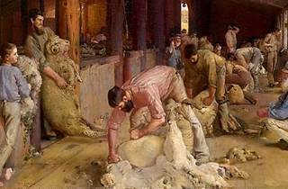 'Shearing the Rams', Tom Roberts 1890