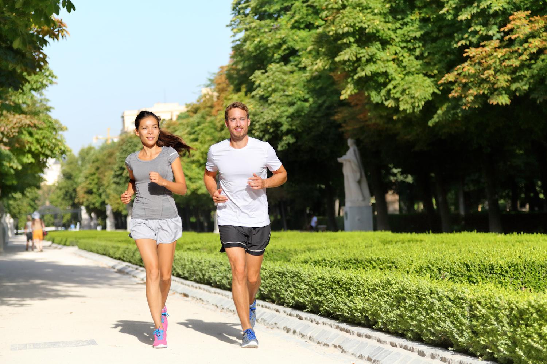 Running in El Retiro park