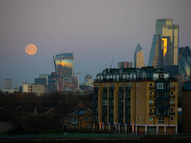 supermoon in London