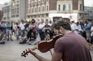 Músico callejero Madrid
