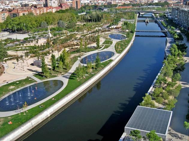 Vista panorámica de Madrid Río