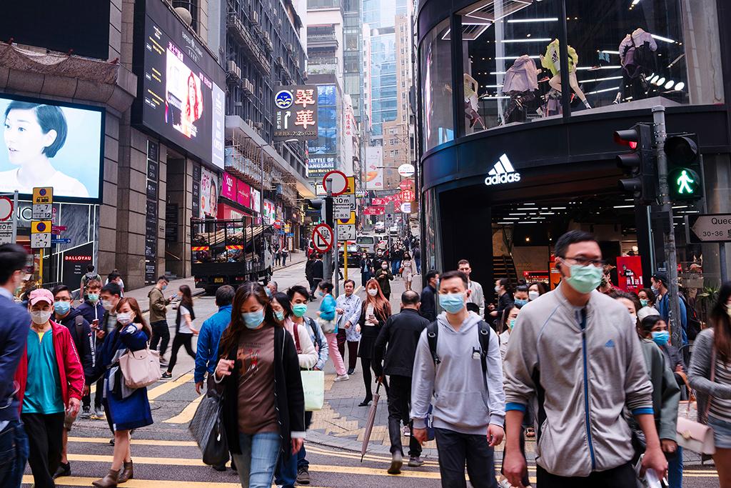 Hong Kong Street masked army