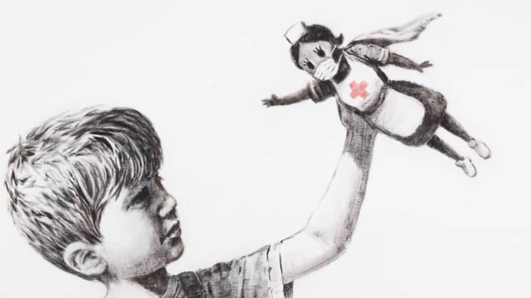 Banksy's new artwork at Southampton hospital