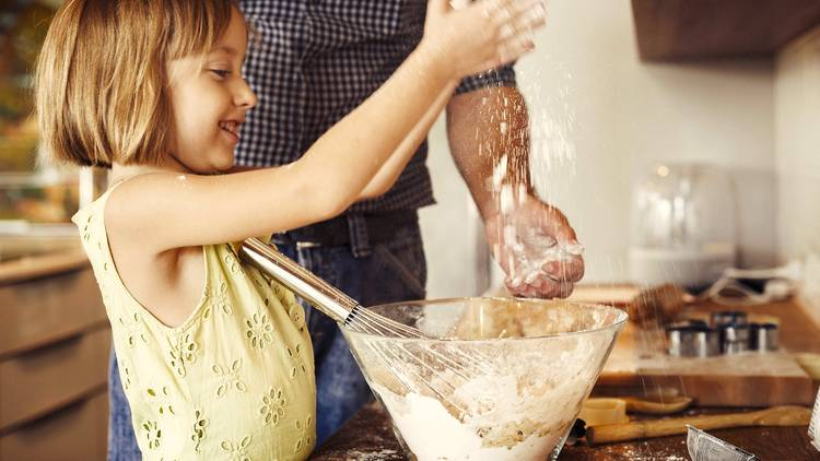 girl kid cooking