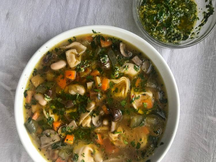Choose Your Own Adventure Vegetable Soup with Any-Herb Pesto from the Dynamite Shop
