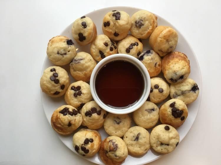 Pancake Chocolate Chip Mini Muffins from Taste Buds Kitchen