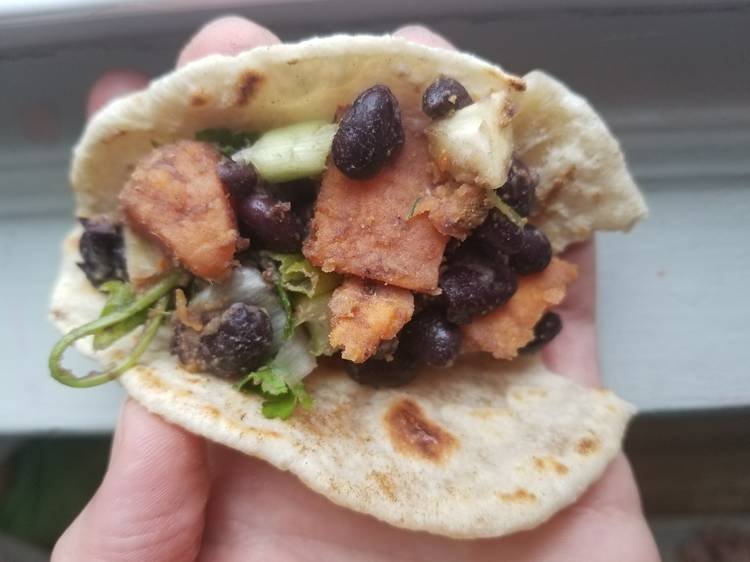 Veggie Tacos with Black Bean Salsa Recipe by Allergic to Salad