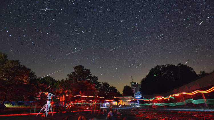 Perseids shooting across Croatia's first international Dark Sky Park, Petrova Gora near Zagreb