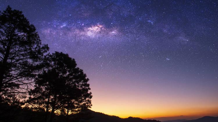starlight, science, deep, plant, desert, wild, milky way, space, mountain, cosmic, adventure, tourism, scenery, nebula, rock, starry, cosmos, hill, universe, holiday, long, sea, summer, natural, starigrad, paklenica, boat, croatia, moon, dalmacija, exposu
