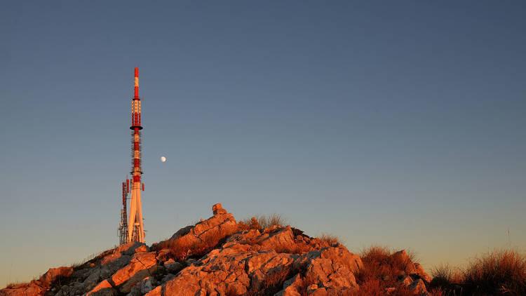 Transmitter on the top of Sveti Jure peak in the Biokovo mountai
