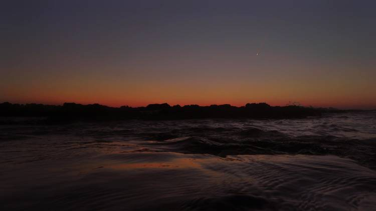A tiny shooting star caught near the coast of Istria