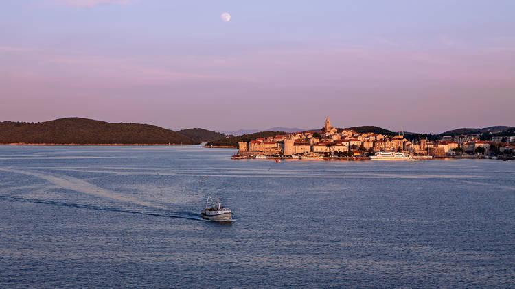Watch the moon rise over Korčula island