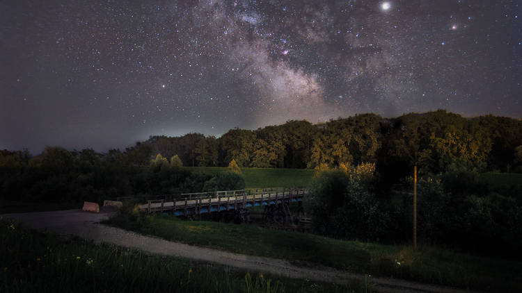 The Milky Way as seen from pastoral Turopolje in the Zagreb County