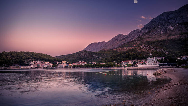 Peaceful morning in Drvenik, Croatia