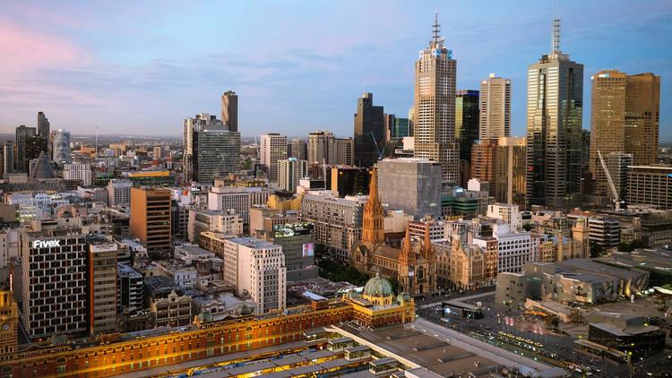 Melbourne spring skyline