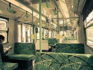 Empty Melbourne tram