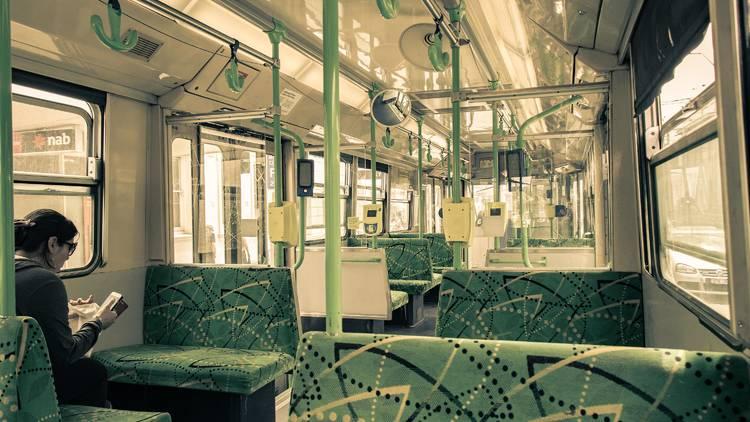 Empty Melbourne tram