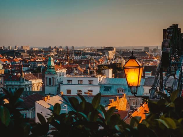 Zagreb, gas, lamp