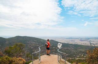 Hiker at You Yangs Regional Park Victoria