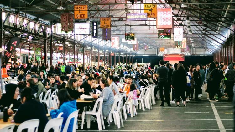 Queen Victoria Market food stalls