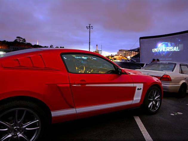 Cars in Drive-in theater