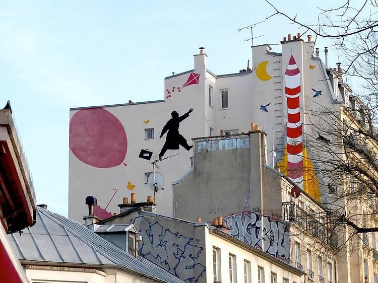 Parcours street art à Ménilmontant