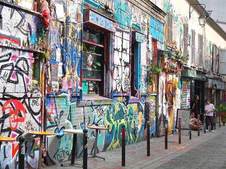Parcours street art rue Dénoyez