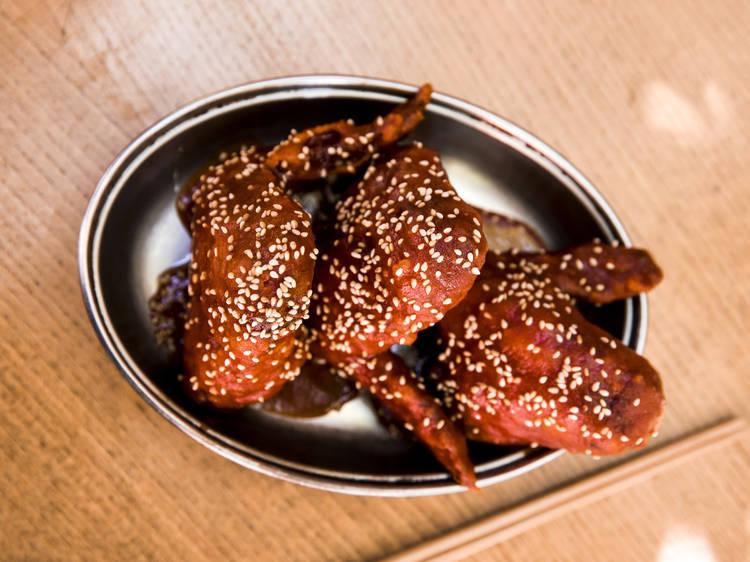 Bone Daddies' Korean fried chicken wings
