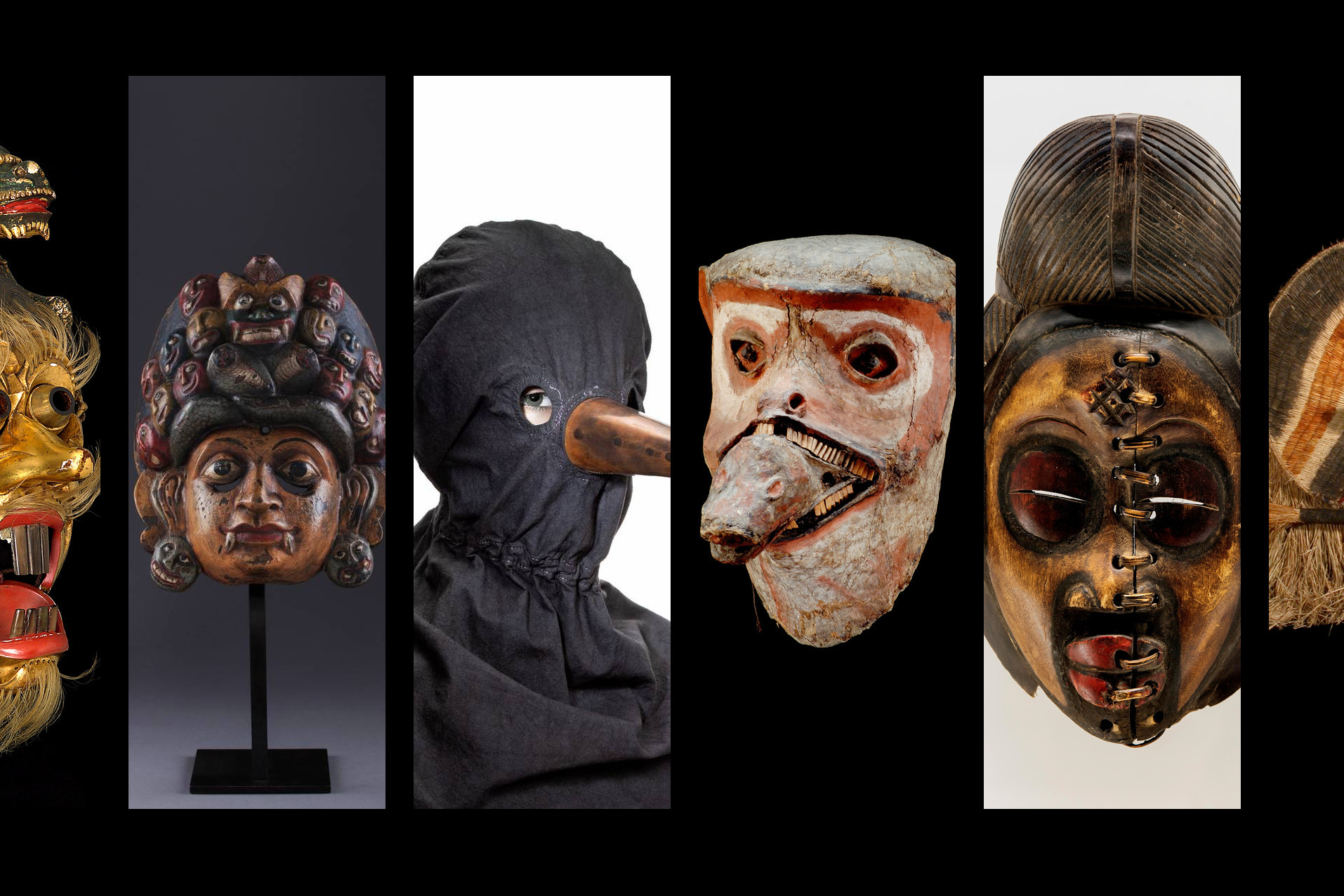 exposição um mundo de mascaras