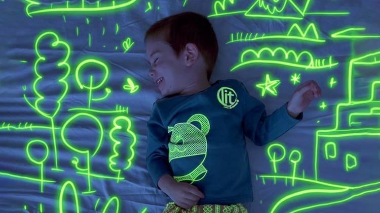 LIT your dreams, pijamas que brillan en la oscuridad