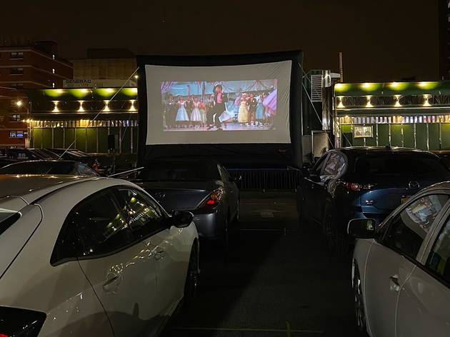 This Queens Diner Has Transformed Into A Retro Drive In Movie Theater
