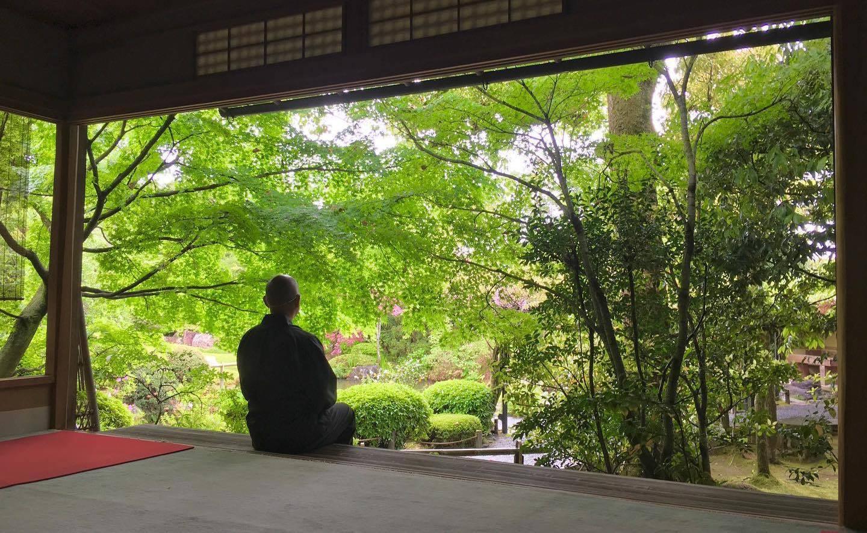 京都の禅寺が、オンラインで座禅を指導