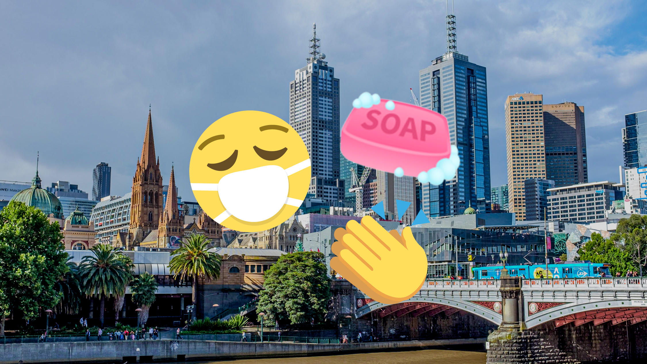 Melbourne social distancing emojis