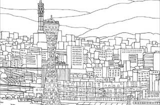 Hanshin Railways colouring pages