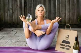 Sophie Monk doing yoga