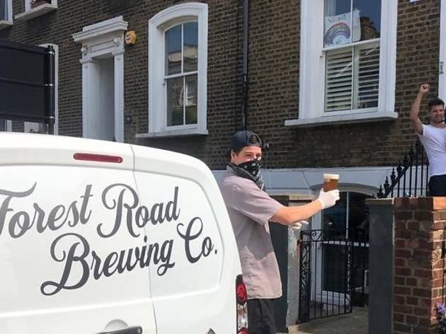 Forest Road Brewing Co's pint mobile