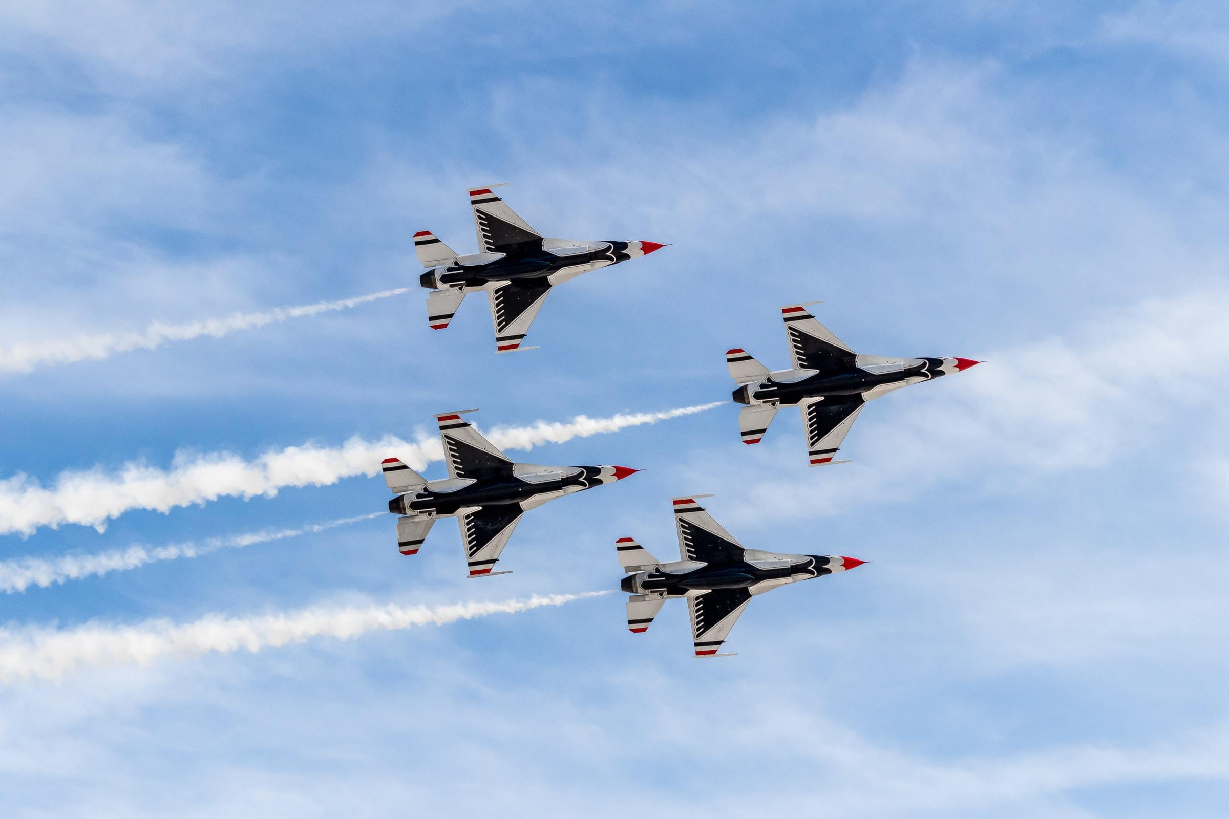 The Thunderbirds will fly over L.A. on Friday. Here's where and when you can see them.