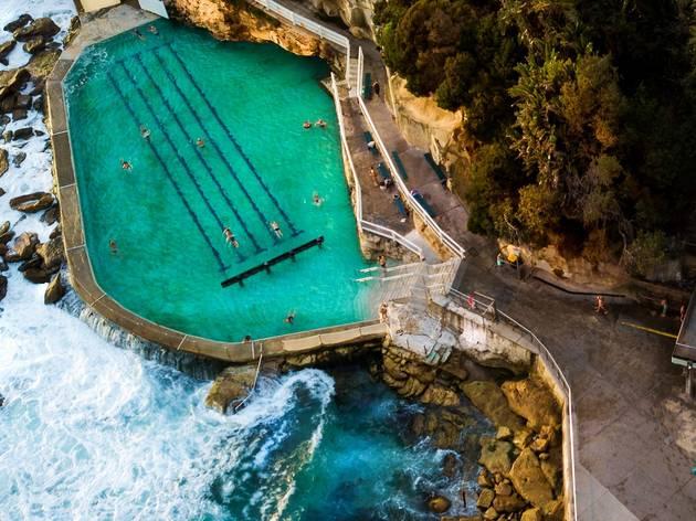 Ocean pool bird's eye view