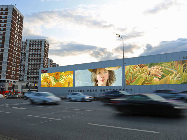 Photograph: Elizabeth Vigée Le Brun's 'Self Portrait in a Straw Hat' at Holland Park roundabout
