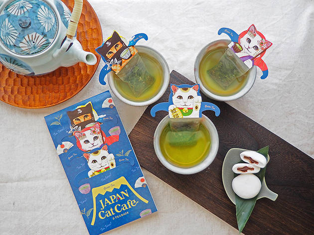 These adorable cat-shaped tea bags from Japan will brighten up your day